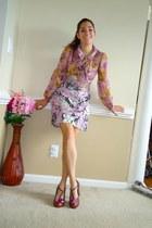 amethyst Forever 21 blouse - amethyst DIY skirt