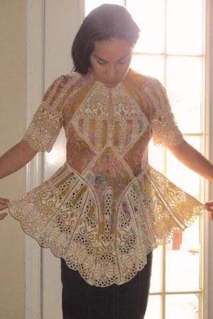 gold Zimmermann blouse