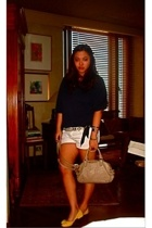 Jcrew sweater - Topshop shorts - unbranded shoes - Miu Miu accessories