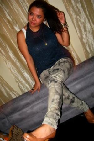 jeans - Topshop top - YSL shoes