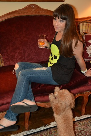 skulls Vintage Havana top - distressed abercrombie & fitch jeans