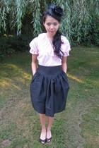 thrifted blouse - Roxannes Hat Shop hat - vintage skirt