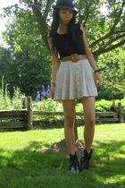 H&M hat - Target shirt - MCC skirt - MCC boots - MCC belt