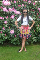 blouse - belt - skirt - sunglasses
