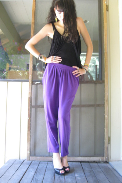 thrifted pants - Sirens top - Sterling shoes