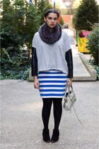 sam edelman boots - vince scarf - balenciaga bag - Zara skirt