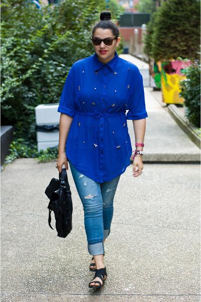 Sheinsidecom blouse - American Eagle jeans - PROENZA SCHOULER bag