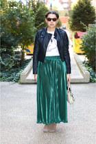 American ApparelApparel skirt - Steven boots - Target jacket - balenciaga bag