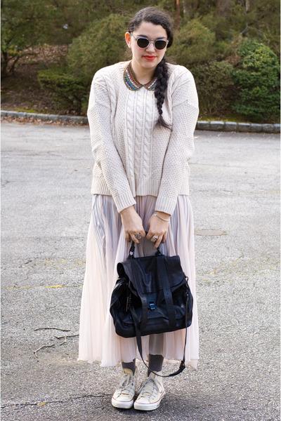 Dannijo necklace - by Second Female sweater - PROENZA SCHOULER bag