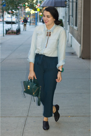 madewell blouse - Dolce Vita shoes - 31 Phillip Lim bag - Mr Dannijo necklace