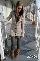 beige Target cardigan - olive green Forever 21 dress - black Target tights - bro