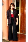 Black-sosi-stuff-blazer-red-cotton-on-top-black-zara-pants
