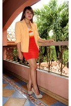 carrot orange herve ledger dress - orange SOSI STUFF blazer