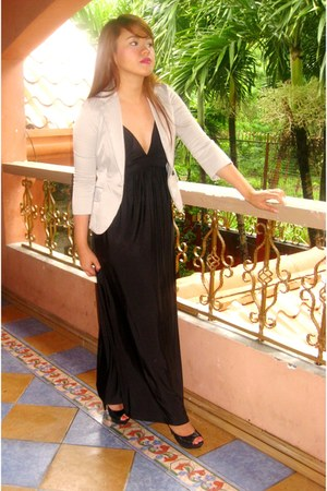 black bangkok dress - heather gray SOSI STUFF blazer