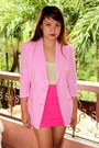 Pink-department-store-shoes-pink-sosi-stuff-blazer-lime-green-forever-21-top