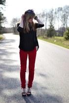 fashionismydrug, pants, red