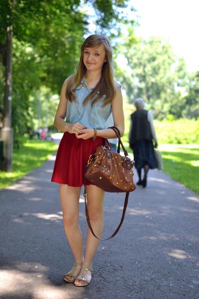 red tideshe skirt