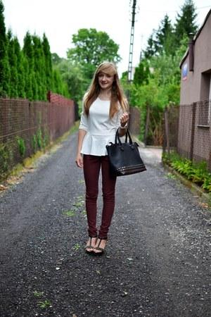 brick red Vero Moda pants