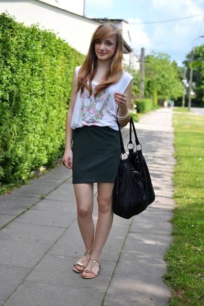 forest green New Yorker skirt