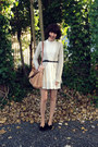 Ivory-lace-romwe-dress-nude-amalie-satchel-witchery-bag