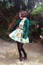 Black-lingering-dream-soles-boots-green-floral-paper-heart-dress