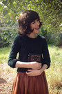 Black-chinababy-windsor-smith-boots-forest-green-cable-knit-topshop-sweater
