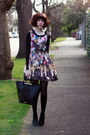Cherub-print-romwe-dress-black-leather-tote-jacki-anderson-bag