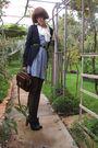 Black-chloe-shoes-black-ebay-tights-blue-bb-dakota-dress-blue-dotti-cardig