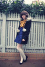 Black-american-eagle-coat-blue-marc-by-marc-jacobs-dress-white-sportsgirl-so