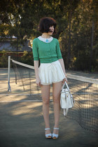 white skirted I Any Wear shorts - white holding hands alice mccall blouse