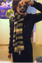 Sportsgirl jacket - Sportsgirl scarf - Jonathan Aston stockings - Ebay skirt