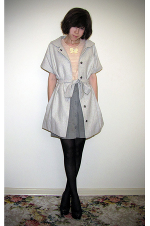 silver Mimosa coat - gray Sportsgirl skirt - pink sretsis blouse - black Superma