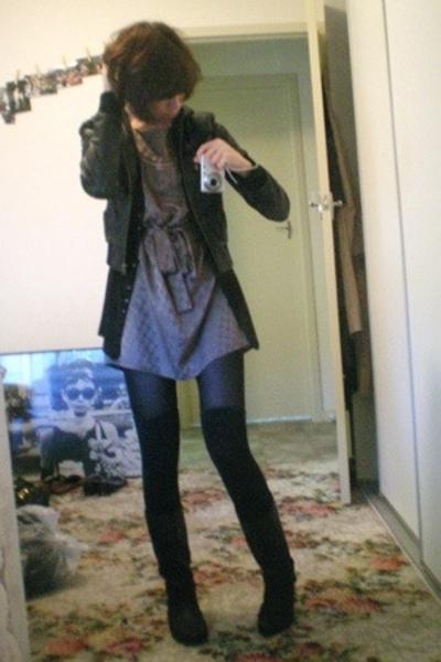 Sportsgirl jacket - cotton on sweater - Witchery dress - Target stockings - Targ
