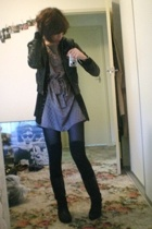 Sportsgirl jacket - cotton on sweater - Witchery dress - Target stockings - Targ