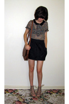 black Chemist accessories - black American Apparel skirt - beige bronx shoes - b