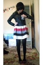 Sportsgirl jacket - DIY skirt - Myer top - Joanne Mercer shoes - Equip hat