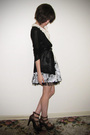 Black-supre-cardigan-white-dotti-blouse-white-forever-21-skirt-black-vinta