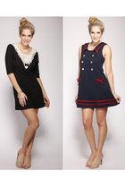 black miss patina dress - blue miss patina dress - brown gosh celebrity fashion