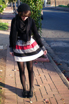DIY skirt - cotton on jacket - ebaycom scarf - Equip hat - Scooter shoes - YSL p