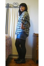 Urban Outfitters shirt - Thrift Store shorts - filenes basement tights - Thrift