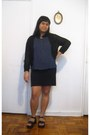 Thrifted-shirt-urban-outfitters-skirt-black-knitted-thrifted-cardigan-blac