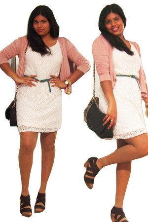 Forever 21 dress - Ardene purse - vintage accessories - Forever 21 cardigan - ex