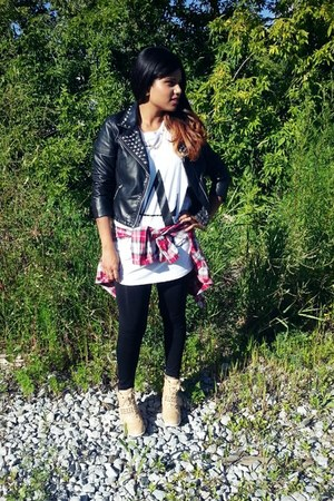 camel Aldo sneakers - black H&M jacket - black unknown brand leggings