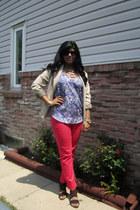 gold Forever 21 bracelet - beige Forever 21 blazer - black H&M sunglasses