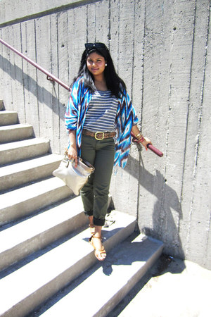 Cleo scarf - Sirens sandals - Forever 21 pants - Forever 21 top - American Livin