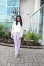 White-forever-21-shirt-off-white-gifted-bag-yellow-forever-21-belt