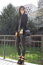black clogs Zara shoes