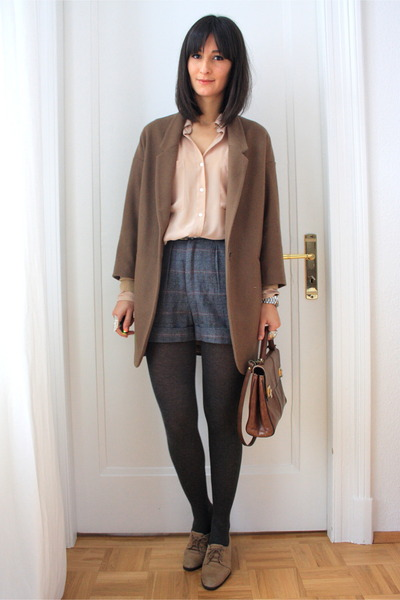 American Apparel blouse - American Apparel shorts - Topshop coat