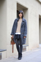 Marc by Marc Jacobs coat - acne boots - shoulder bag Mulberry bag - Zara skirt