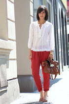 pyjama pants Zara pants - lace top Zara top